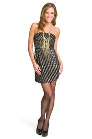 Sequin Spiral Stripe Dress