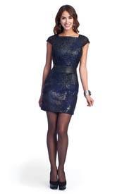 Drip Jacquard Dress