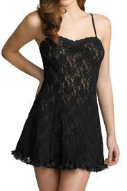 Black Cigarette Girl Chemise