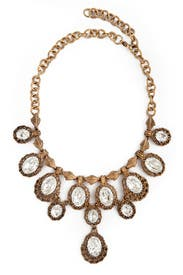 Antique Cascading Crystal Necklace