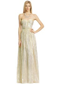 Metallic Drizzle Gown