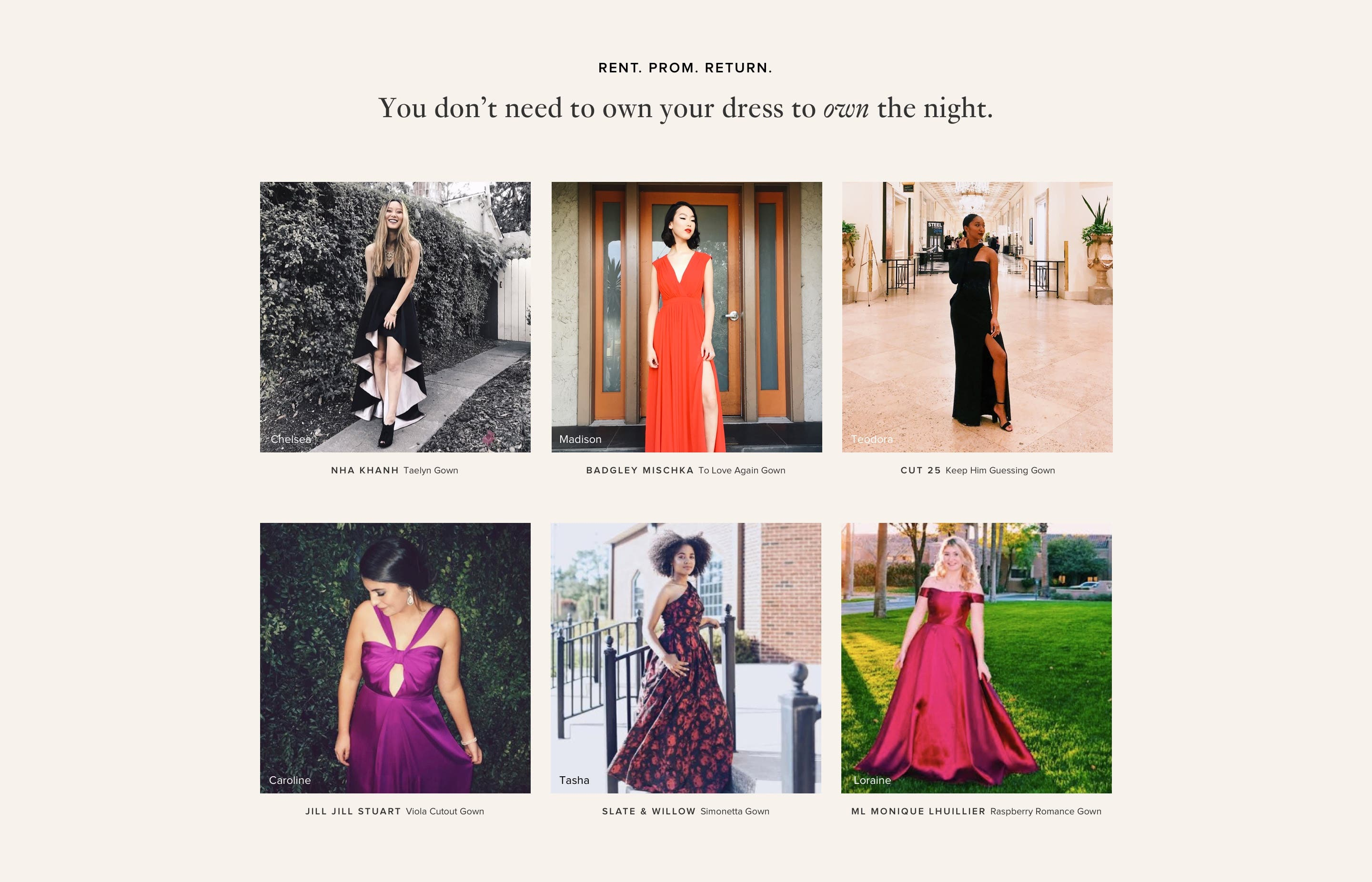 See how girls like you rented for prom with Rent the Runway.