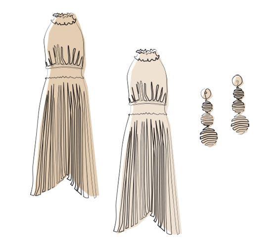1 Dress. 1 Backup Size. 1 Accessory.