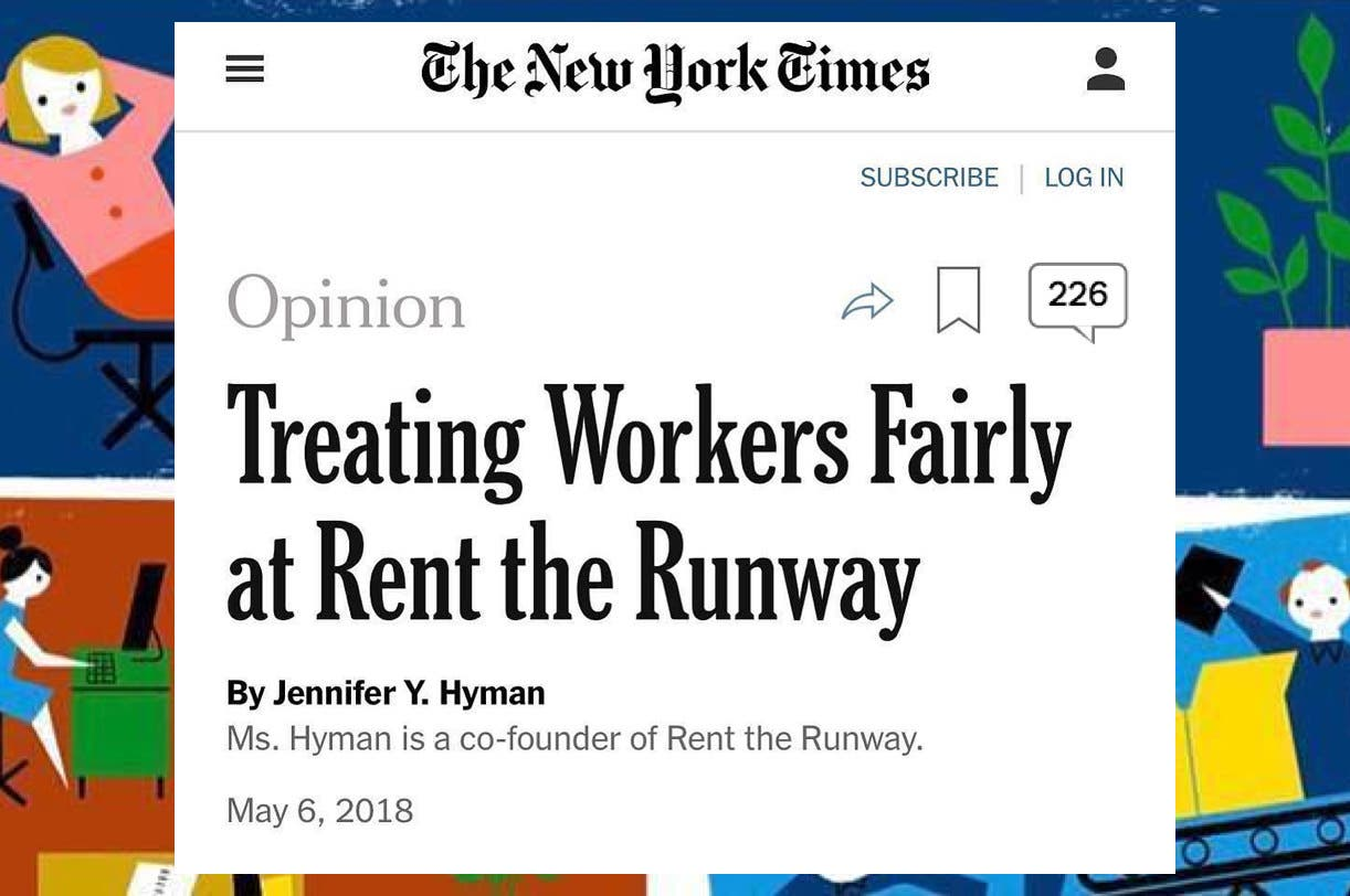 Screenshot of the headline for the New York Times op-ed