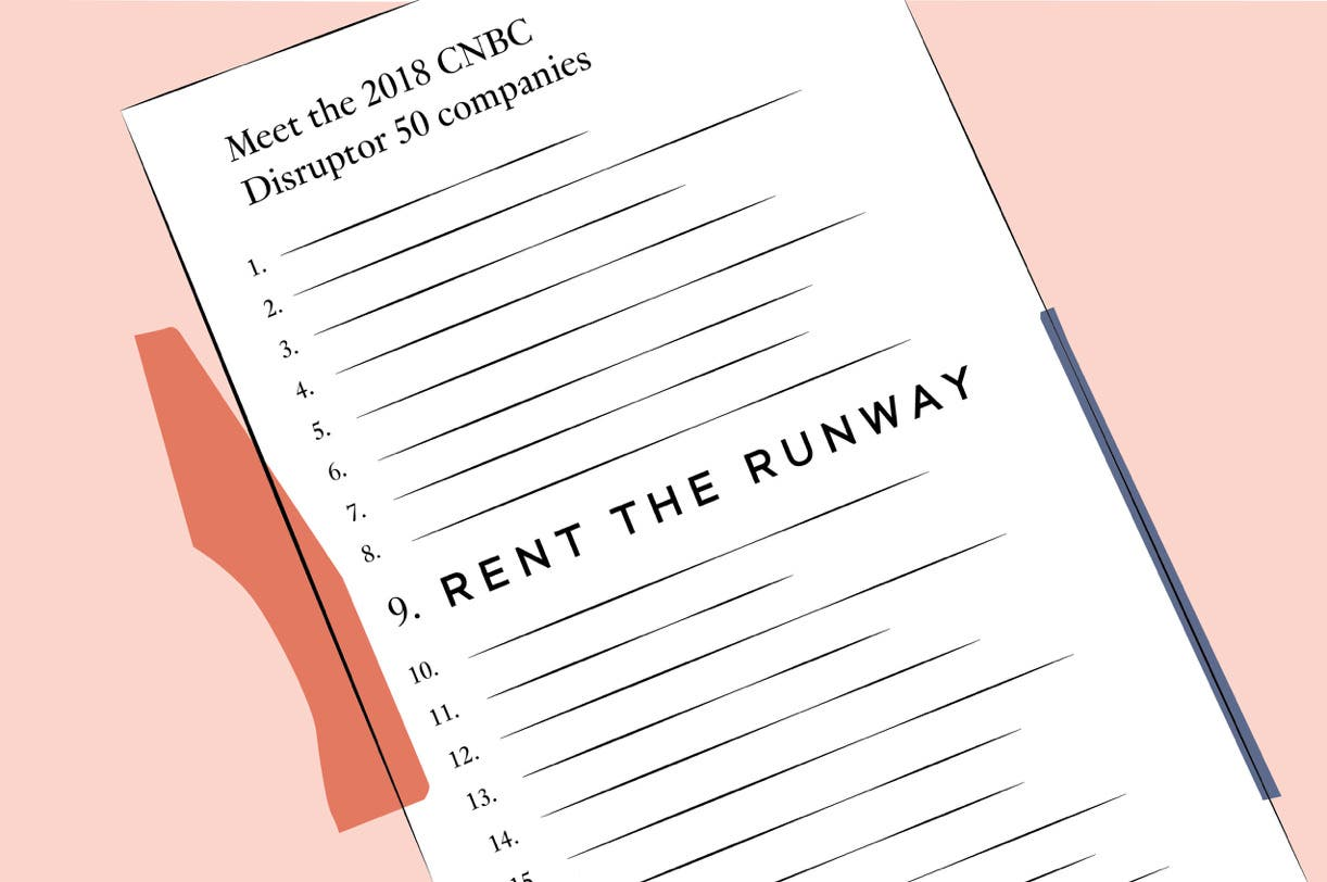 Illustration of list with Rent the Runway at number 9