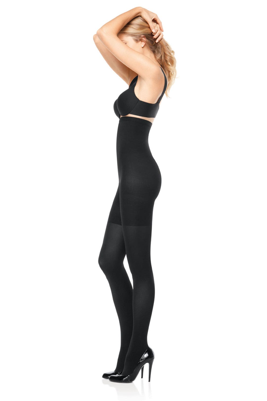 Black High Waisted Tight End Tights by Spanx