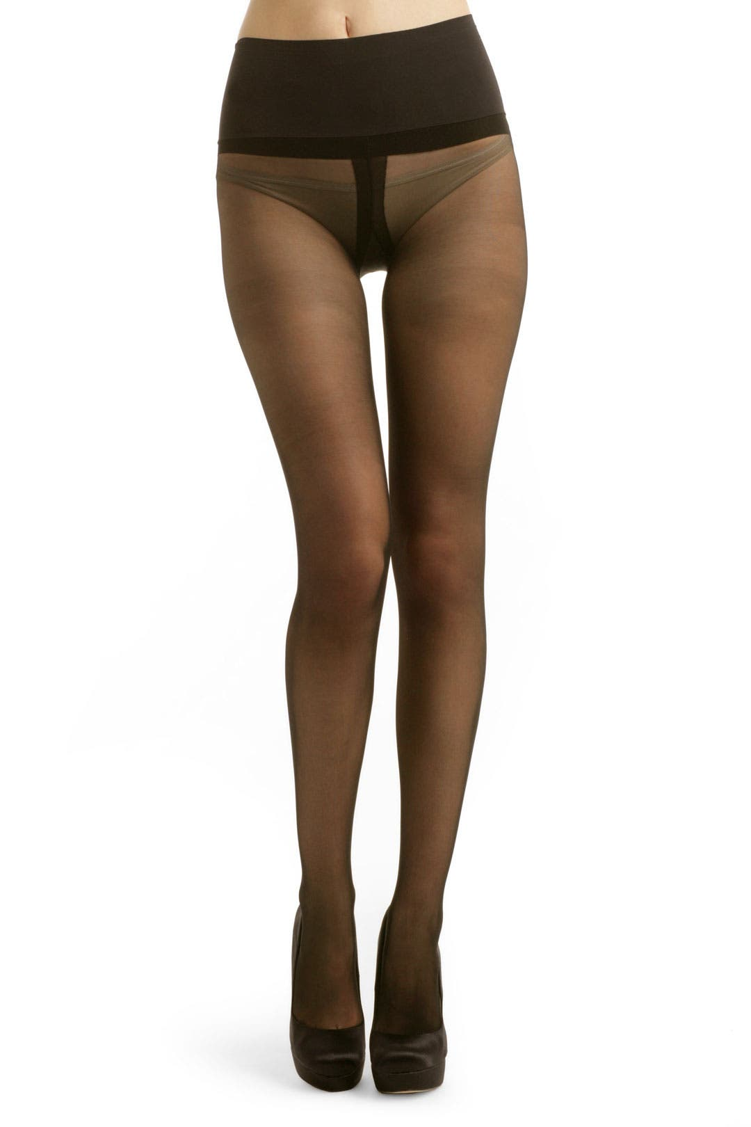 Black Premier Sheer Tights by Commando