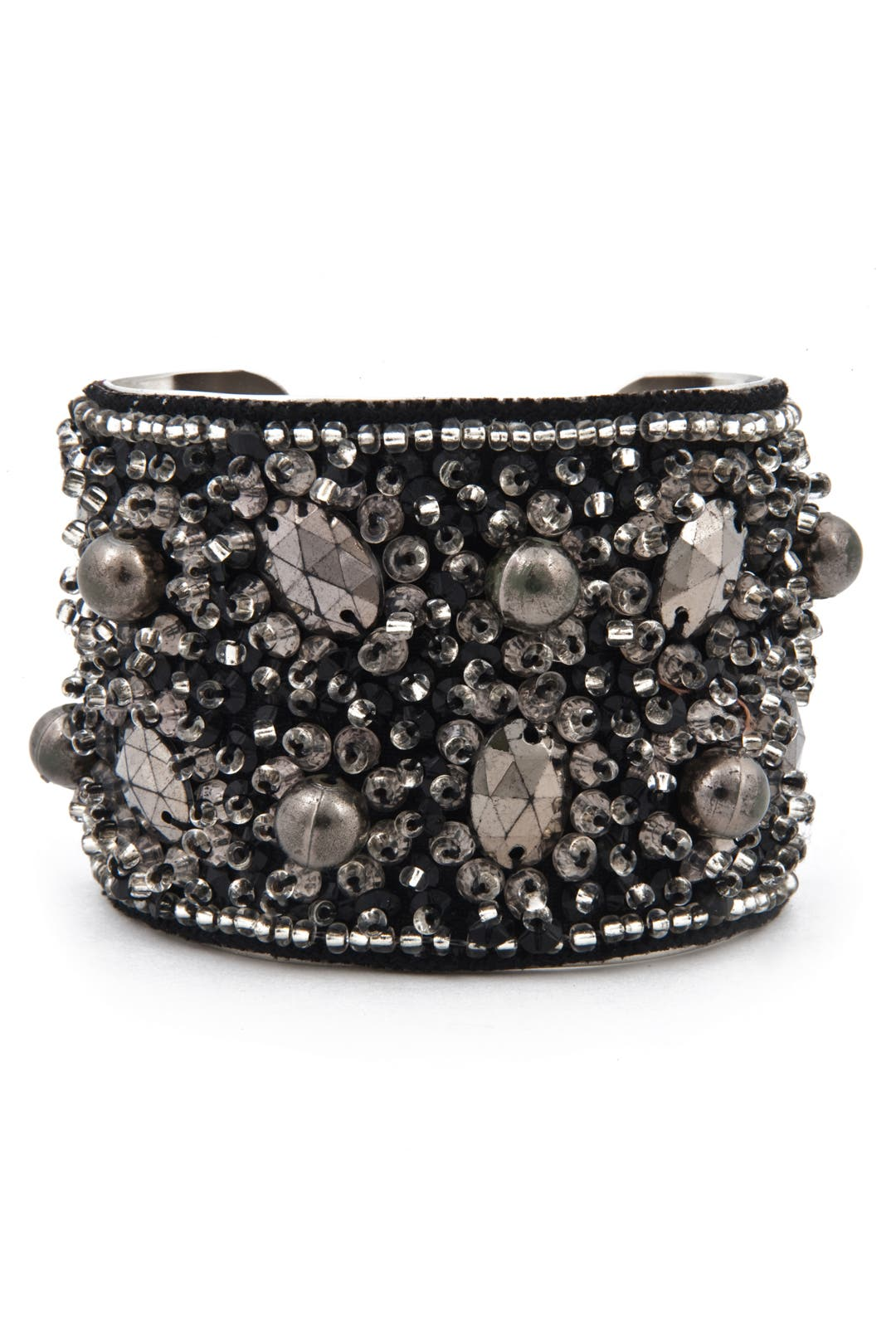 Beaded Rocker Jewel Cuff by AV Max
