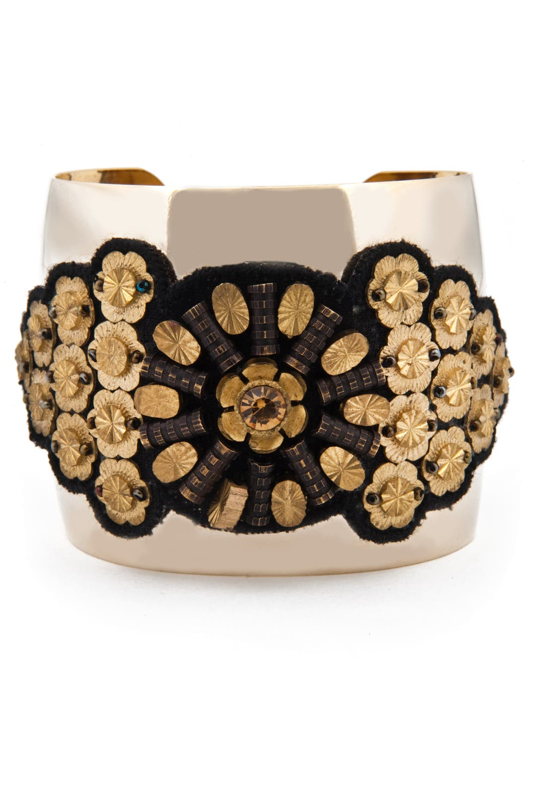 Gold Medallion Cuff by AV Max