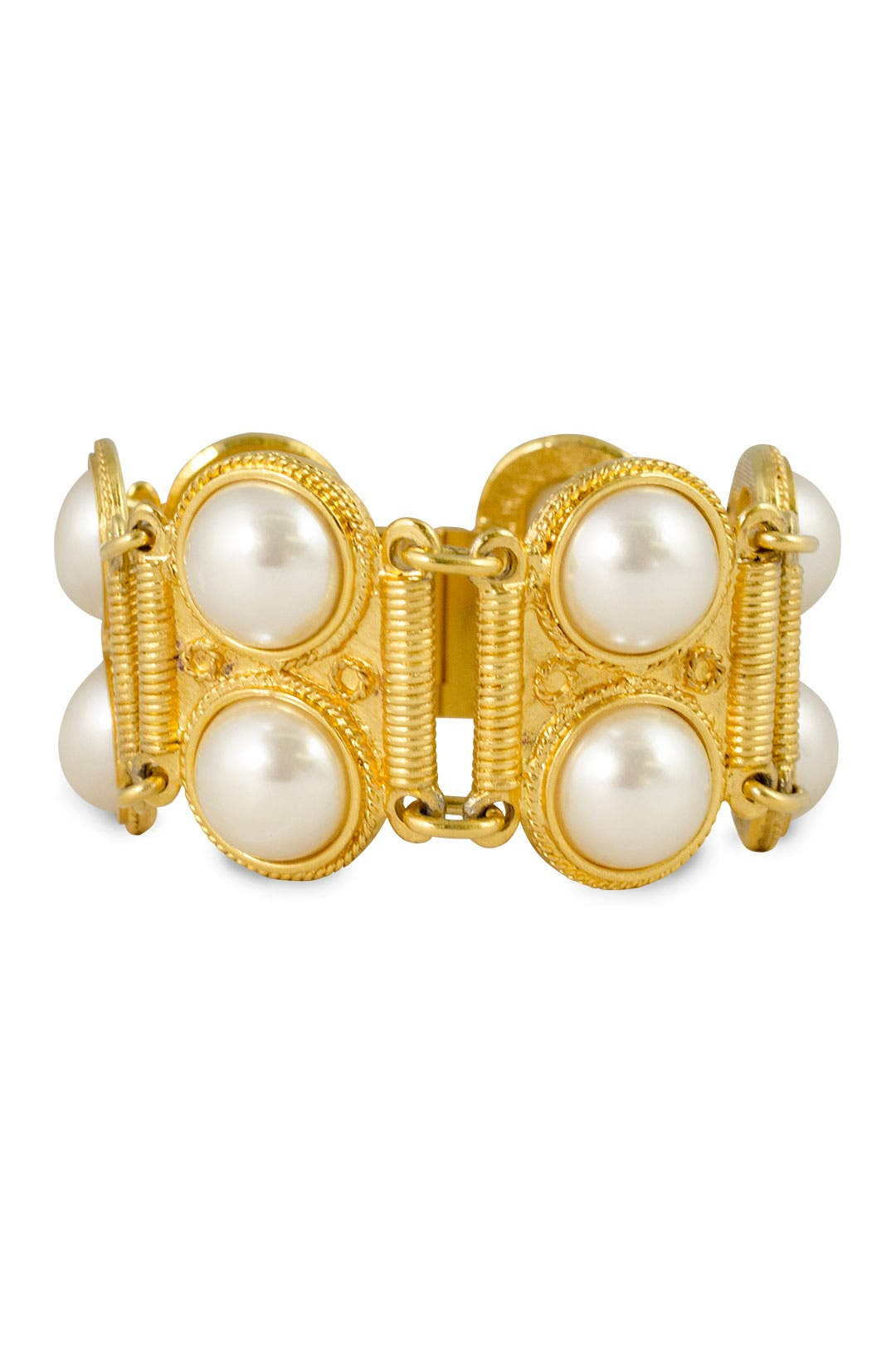 Coupled Pearls Bracelet by Ben-Amun