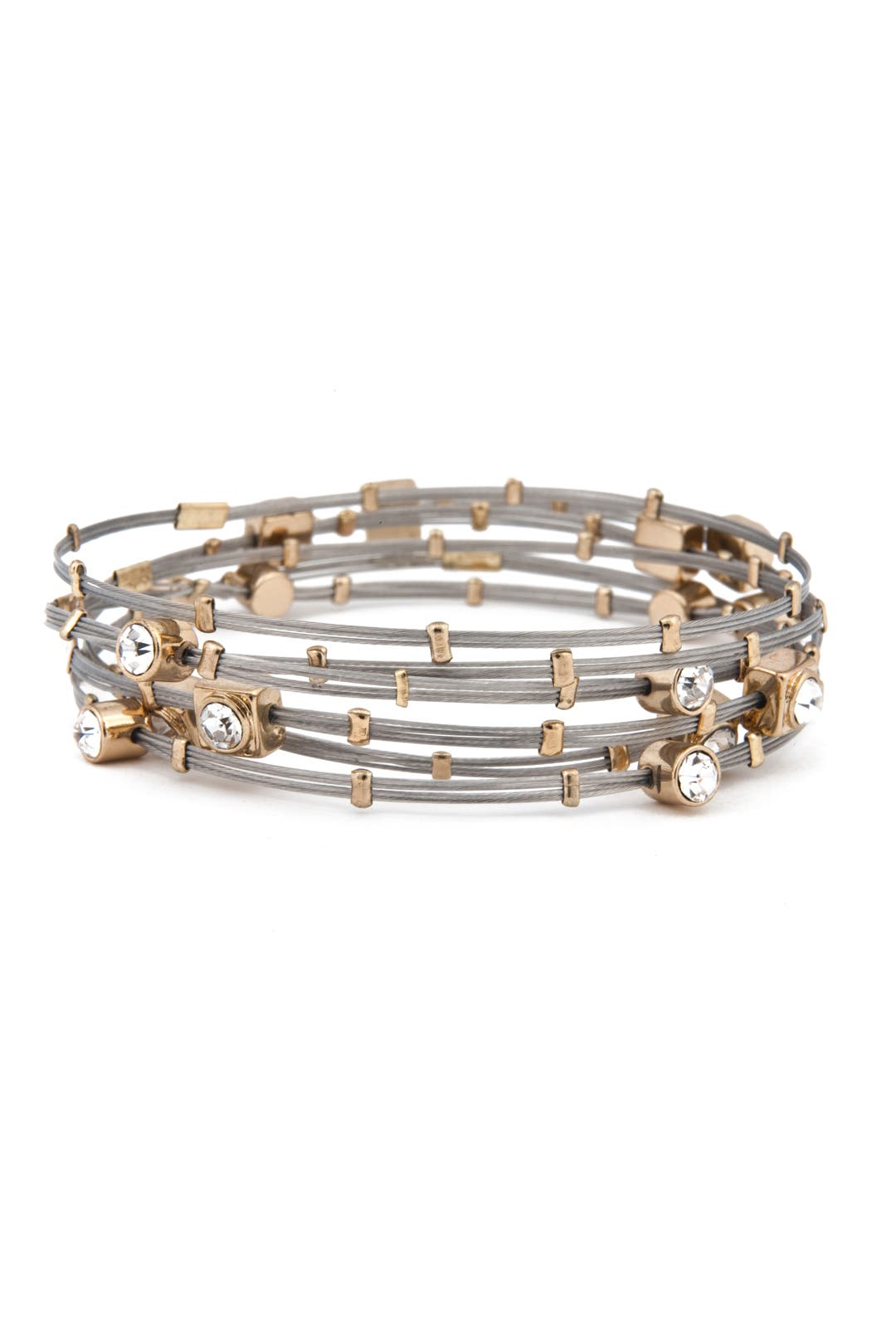 Dainty Elegant Crystal Bracelet Set by Cara Accessories
