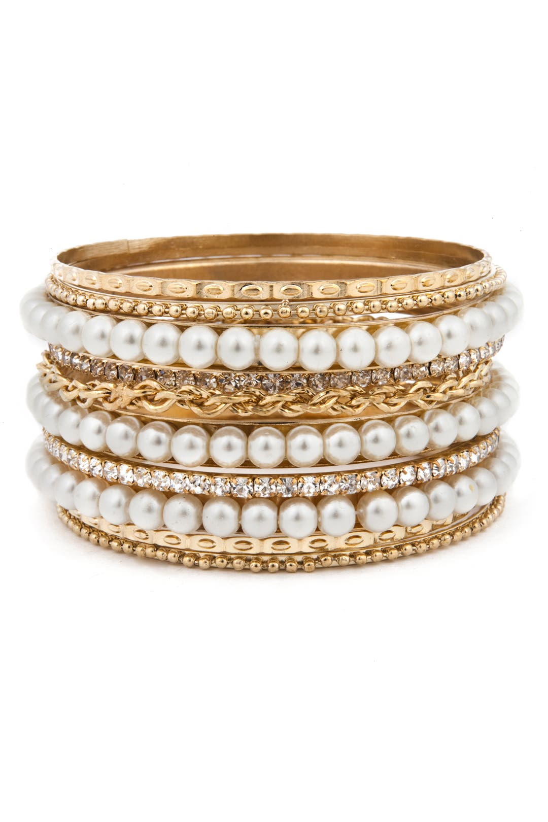 Pearly Girl Bangle Set by Cara Accessories