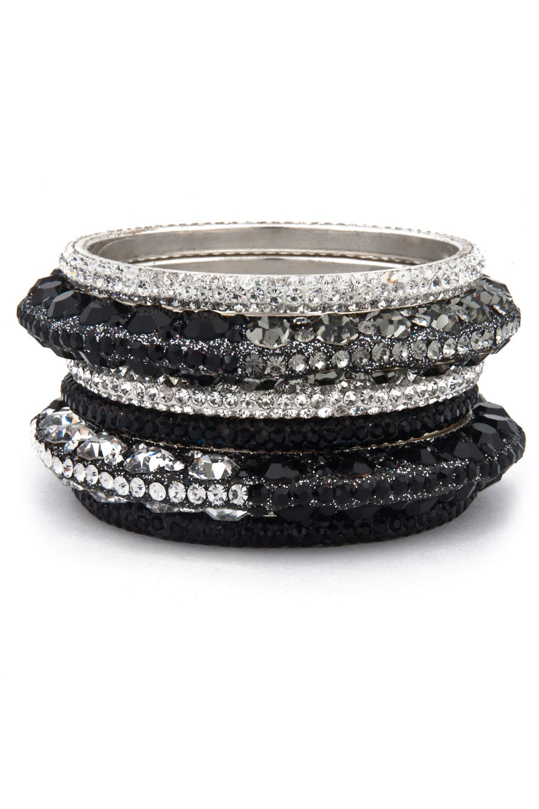 Black Ice Bangle Set by Chamak by Priya Kakkar