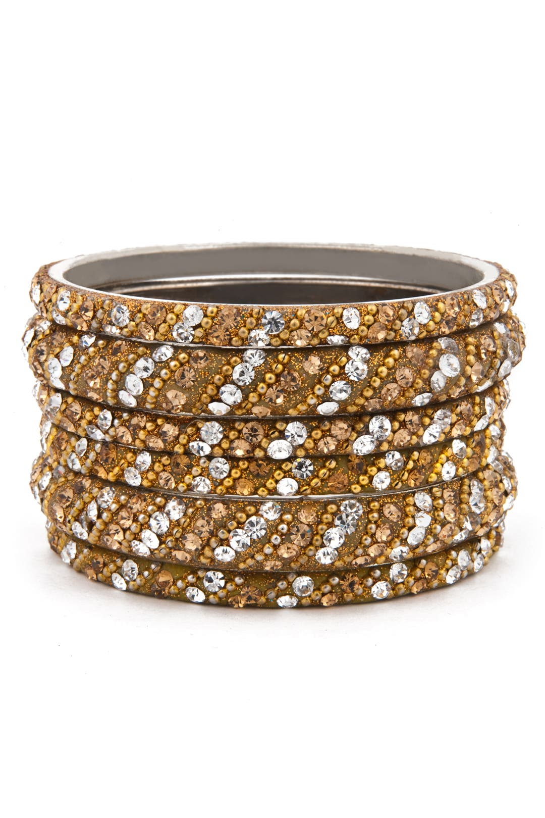 Gold Glitz Bangle Set by Chamak by Priya Kakkar