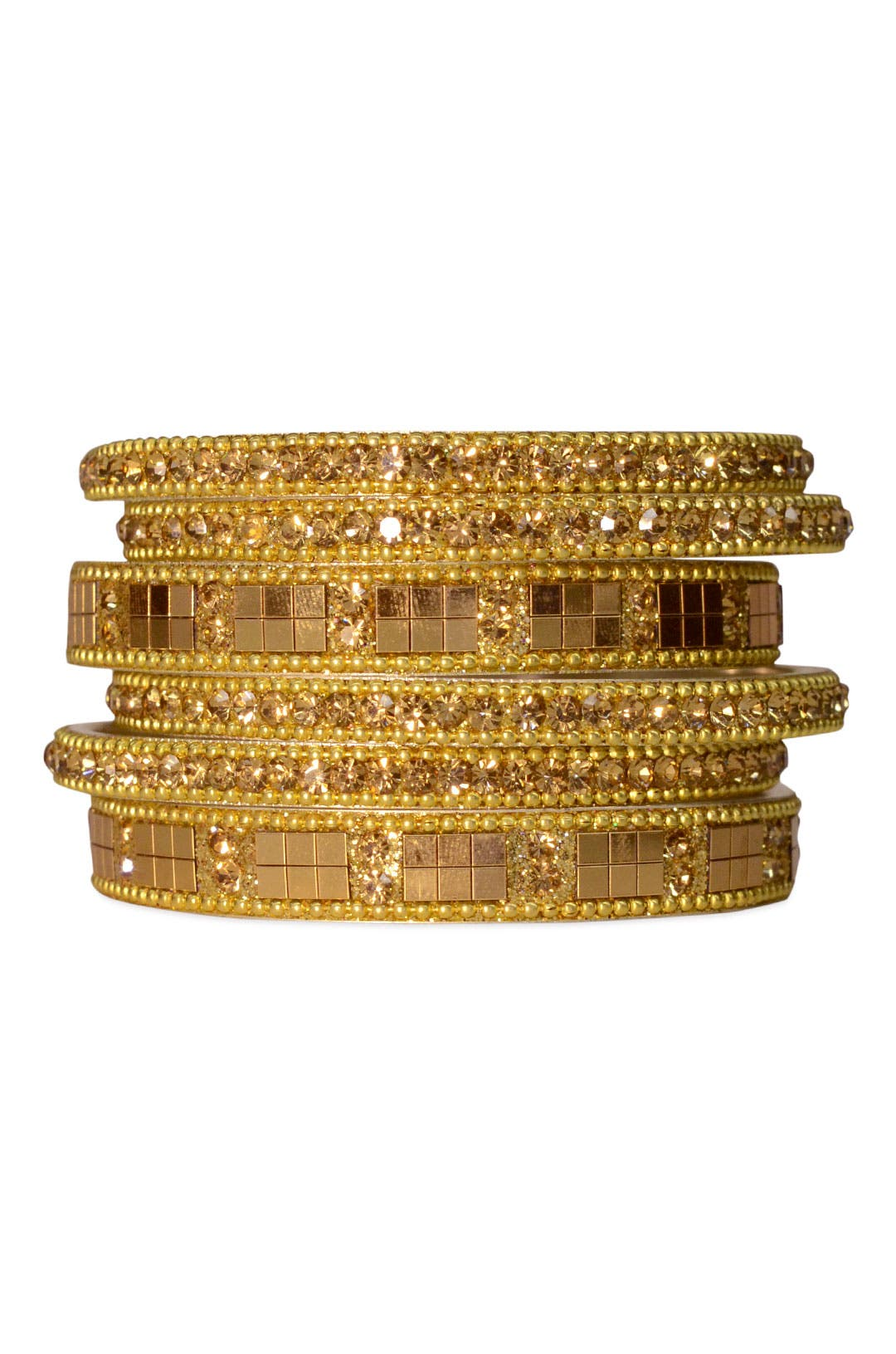Golden Age Bangle Set by Chamak by Priya Kakkar