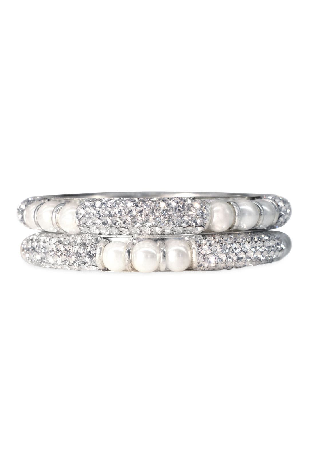 Pearl Paradise Bangle Set by Chamak by Priya Kakkar