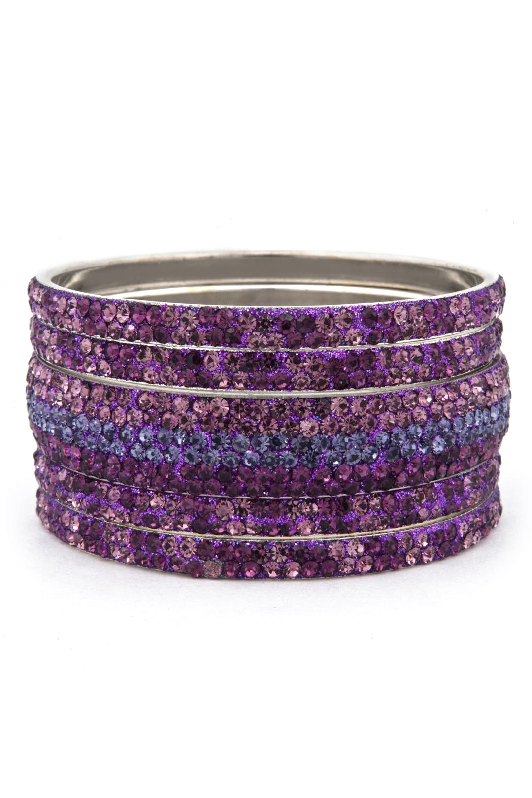 Perfect Plum Bangle Set by Chamak by Priya Kakkar