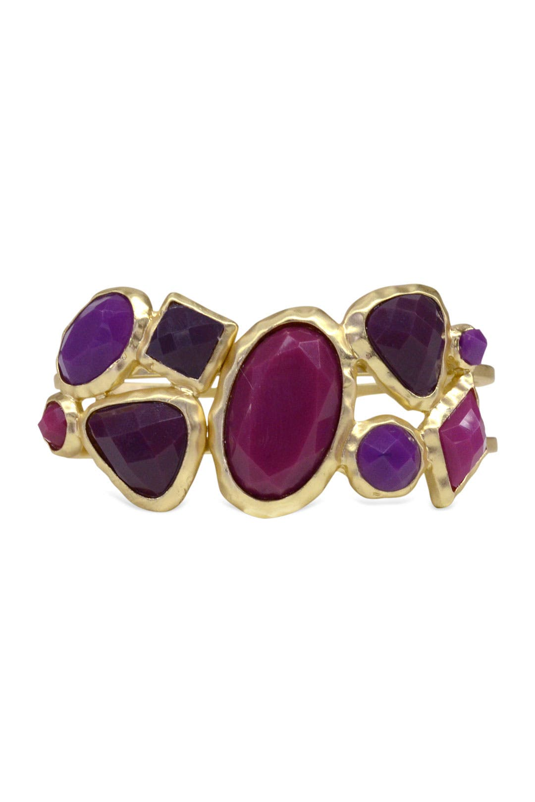 Berry Stone Bangle by Cinder & Charm