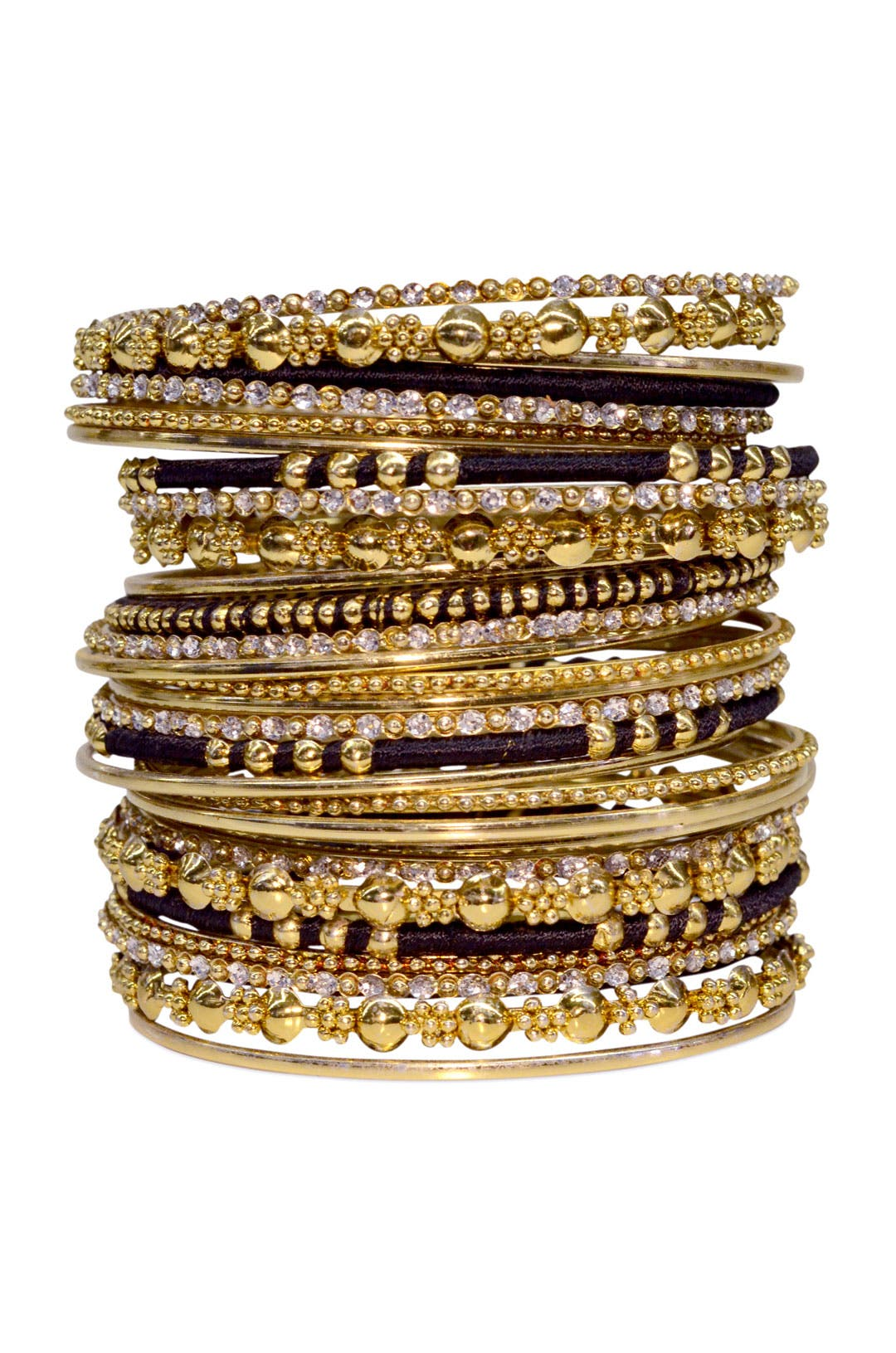 Black & Gold Bangle Set by Cinder & Charm