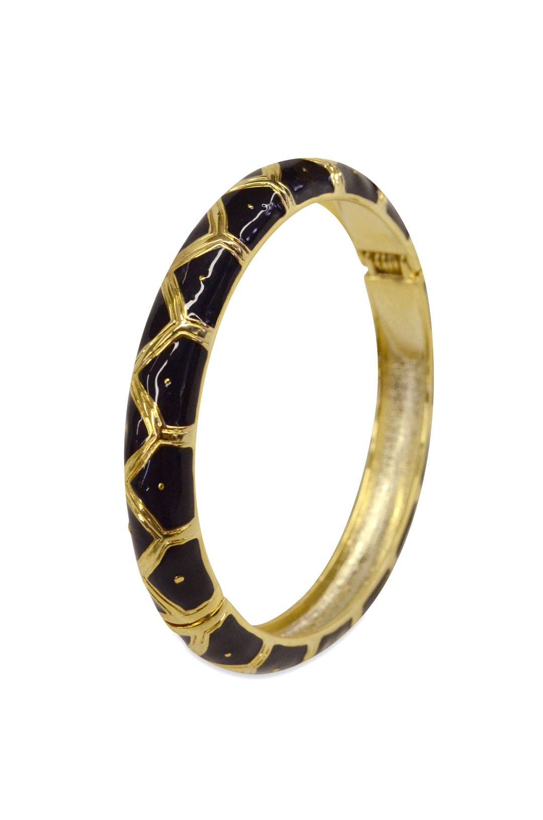 Black Zig-Zag Bangle by Cinder & Charm