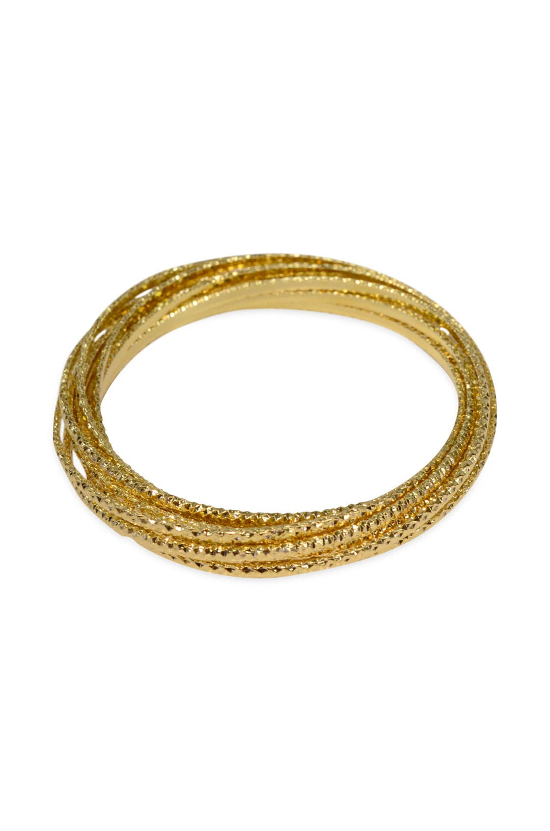 Gold Bangle Set by Cinder & Charm