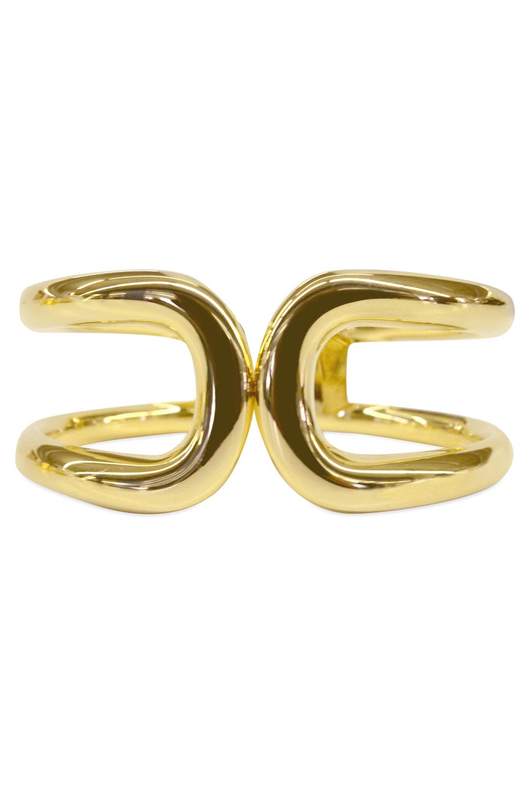 Gold Horseshoe Cuff by Cinder & Charm