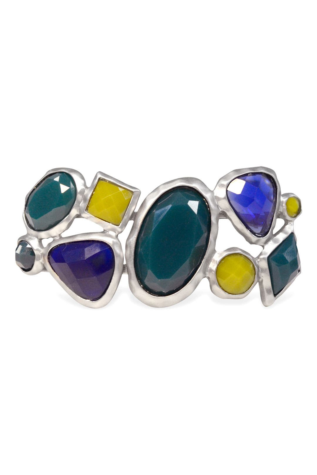 Peacock Stone Bangle by Cinder & Charm