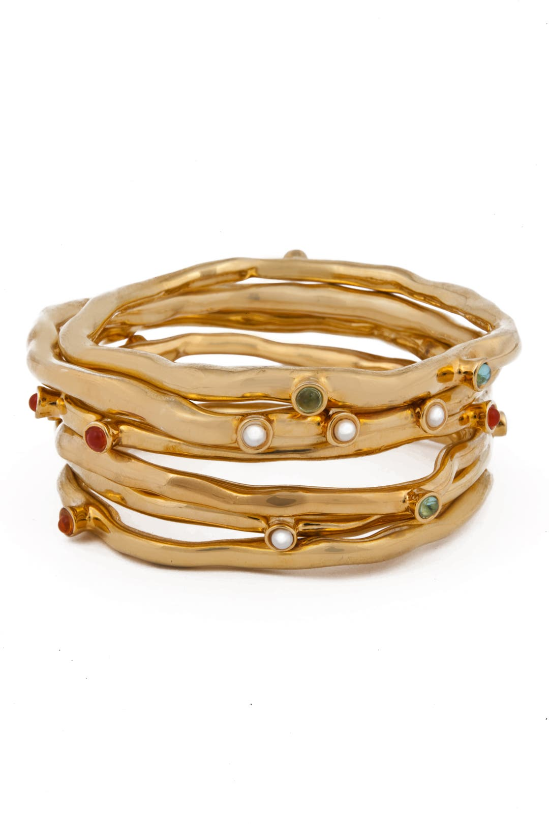 Gemstone Bangle Set by Kara Ross