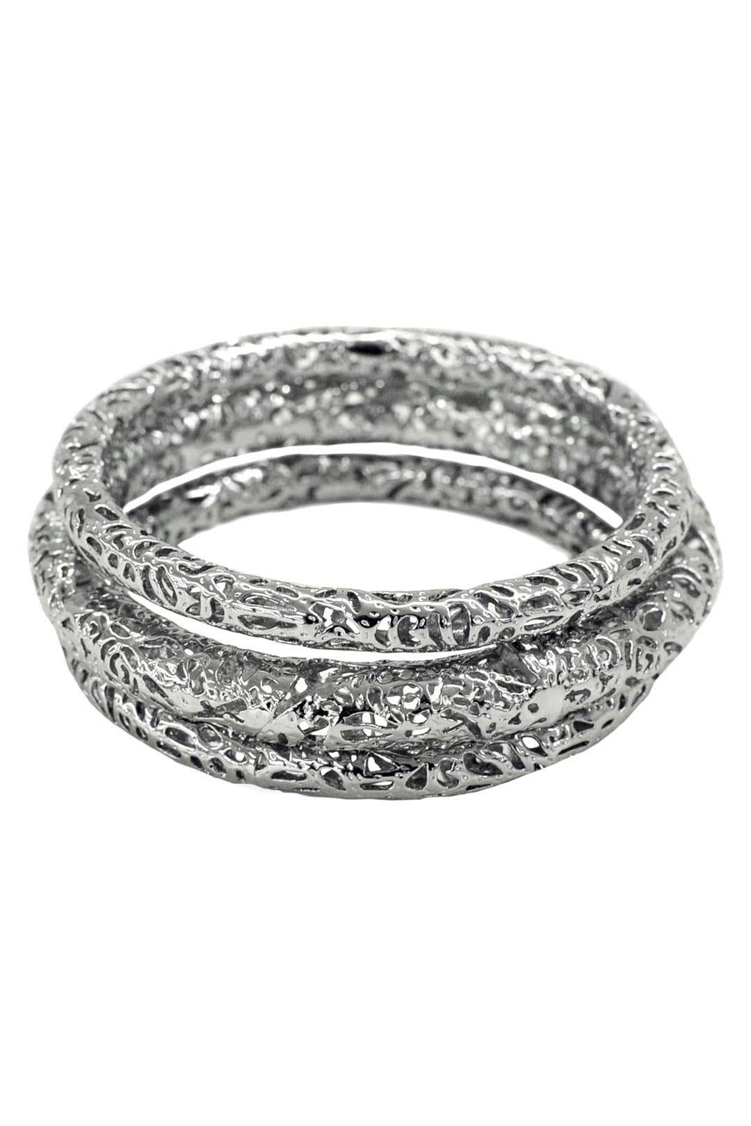 Crackled Silver Bangle Set by Kendra Scott