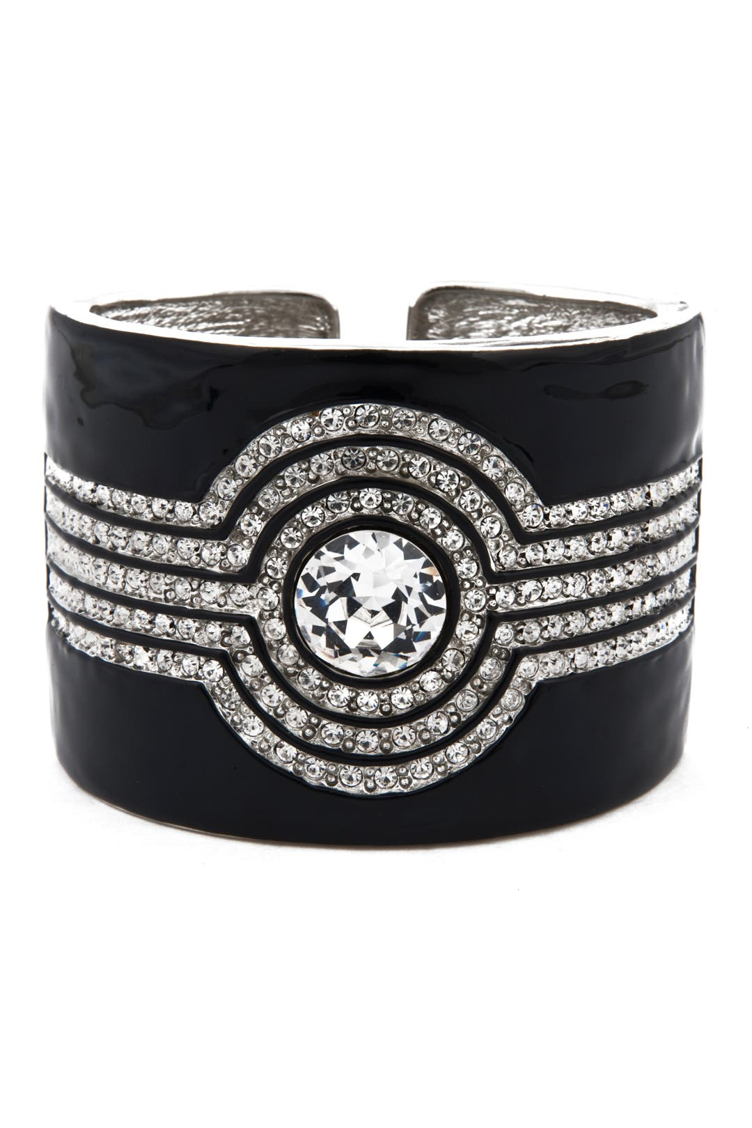 Black Deco Cuff by Kenneth Jay Lane