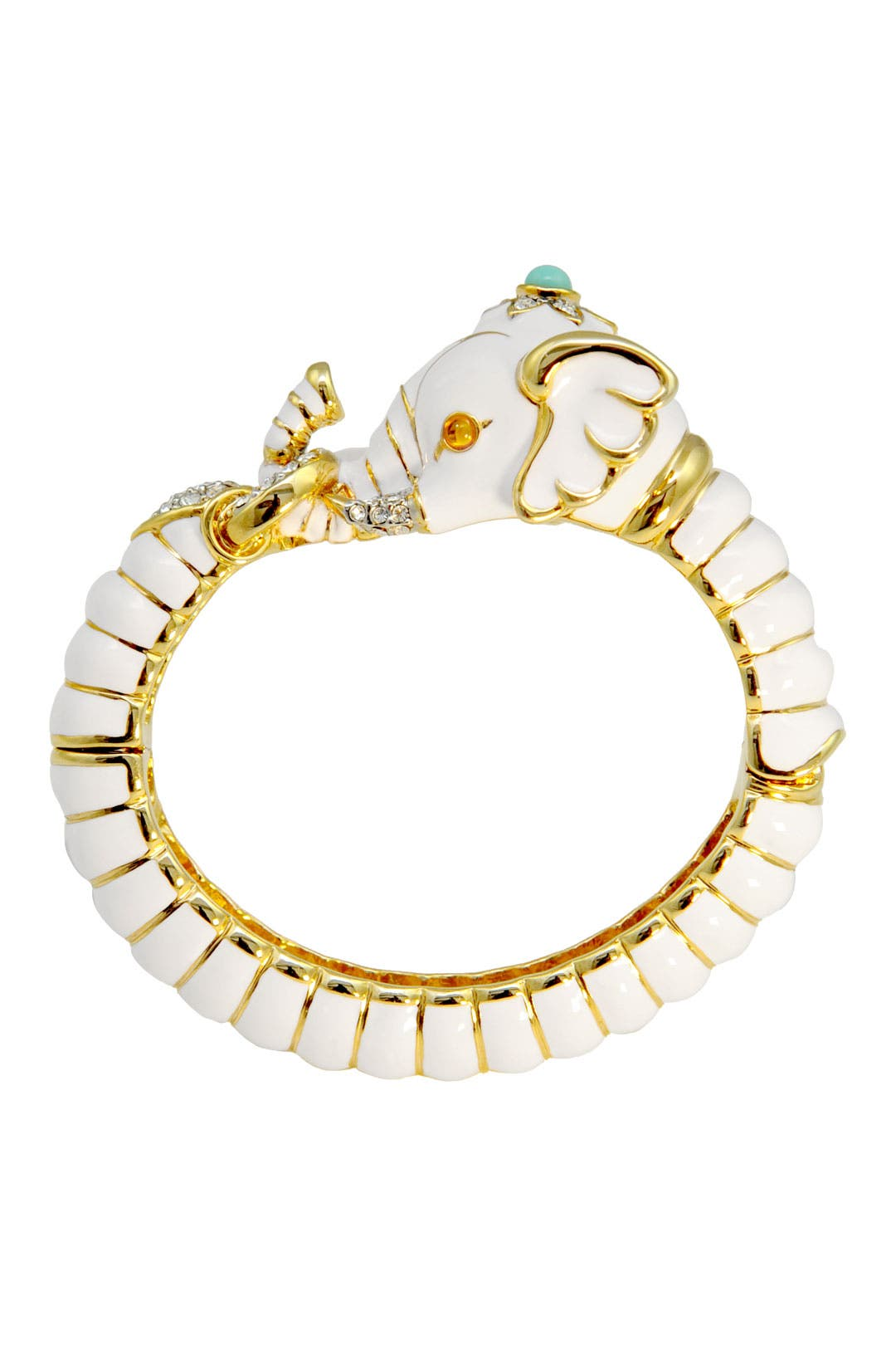 Ivory Genesha Bangle by Kenneth Jay Lane