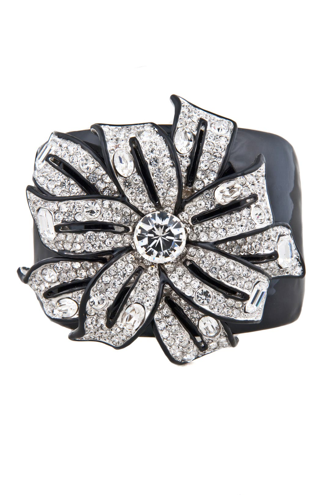Pave Flower Cuff by Kenneth Jay Lane