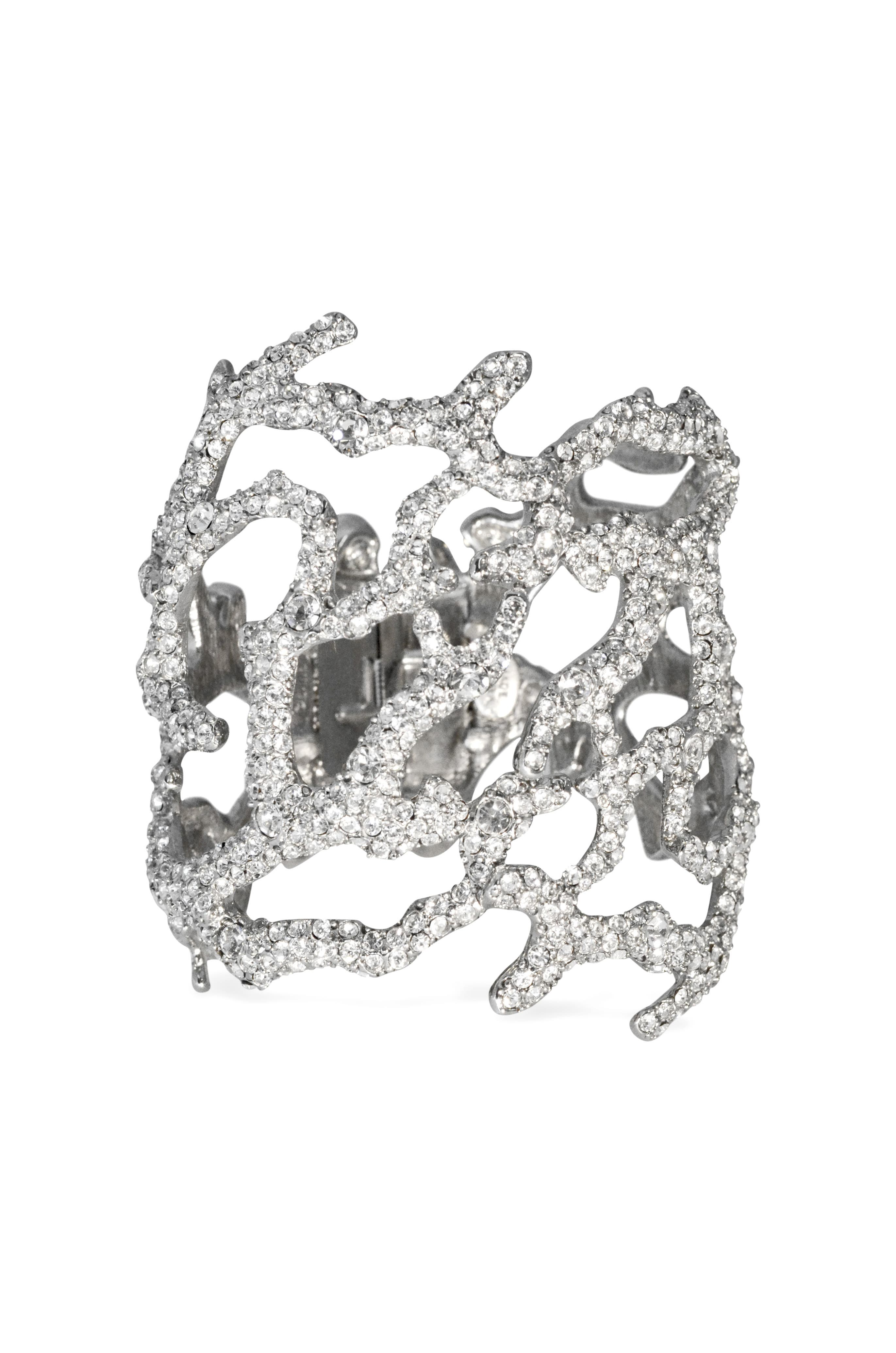 Sculpted Pave Branch Cuff by Kenneth Jay Lane