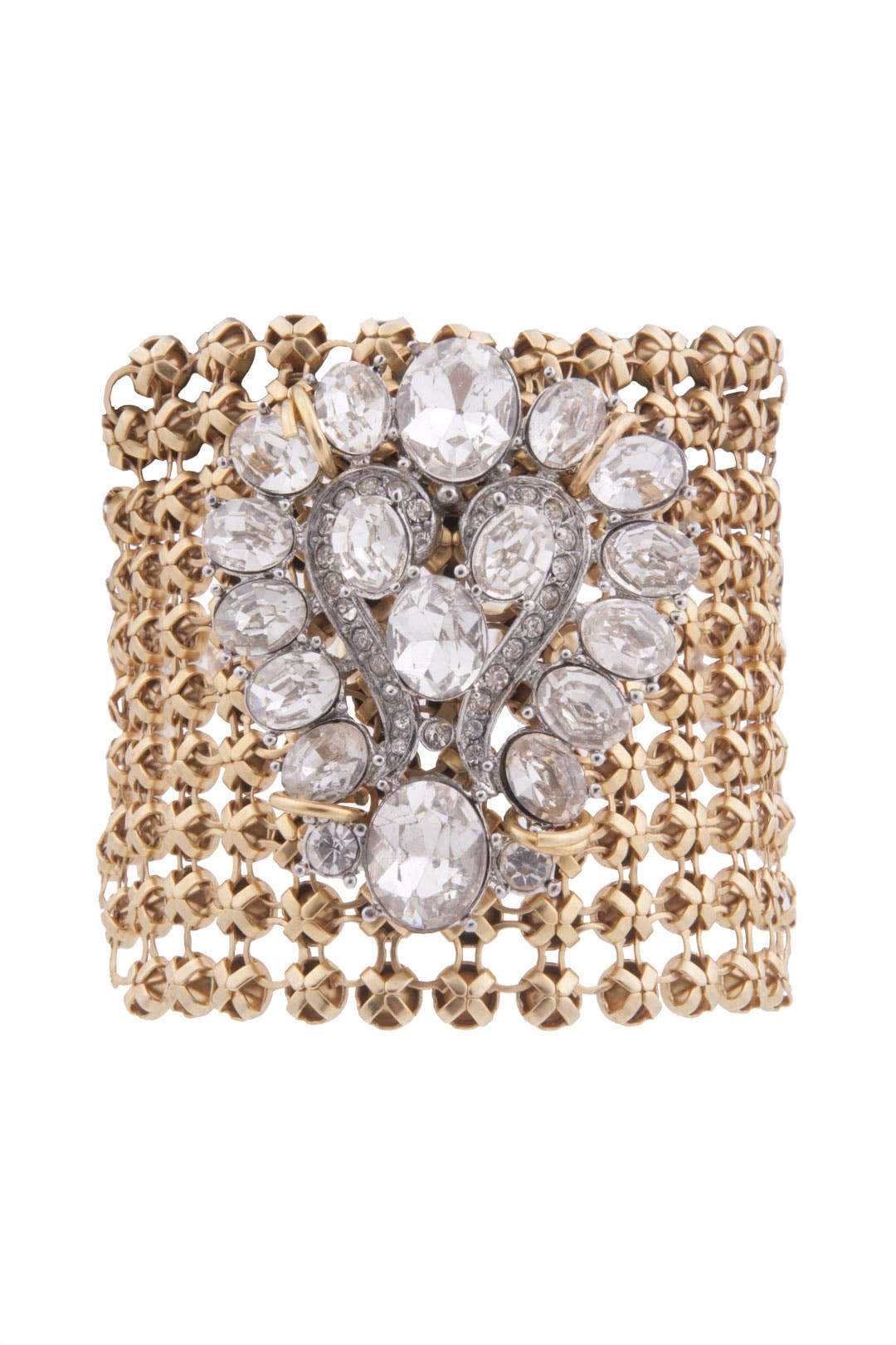Crystal Brooch Bracelet by Lulu Frost