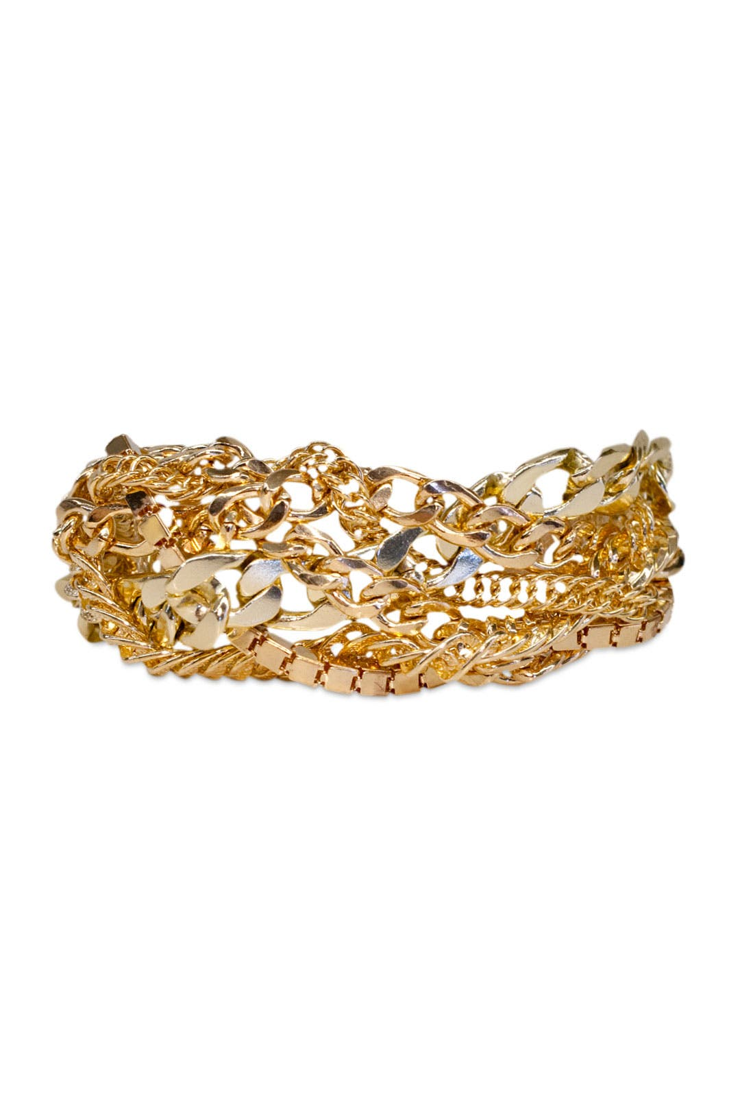 Gold Chain Effect Bracelet by RJ Graziano