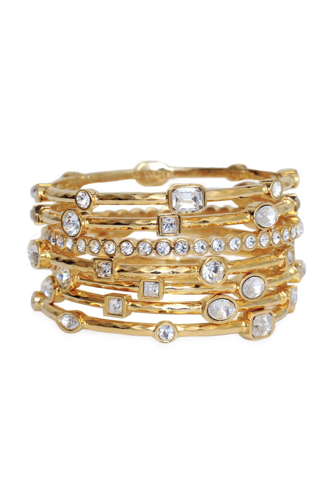 Gold Scalloped Bangle Set by RJ Graziano