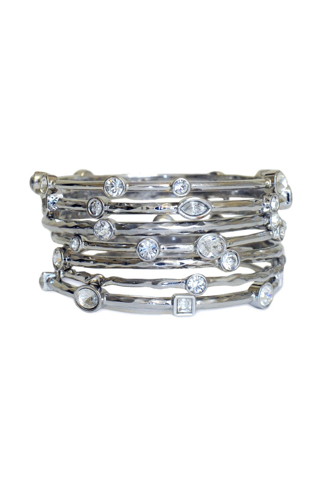 Silver Scalloped Bangle Set by RJ Graziano