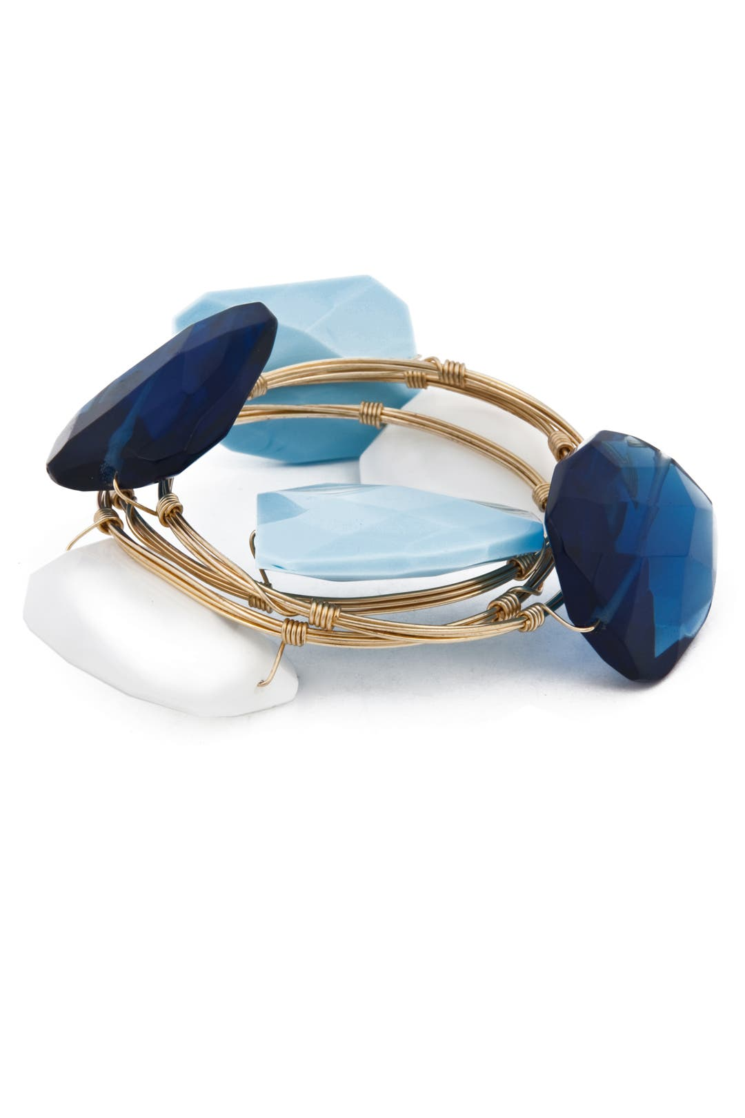 Ocean Tone Bangle Set by Susan Hanover