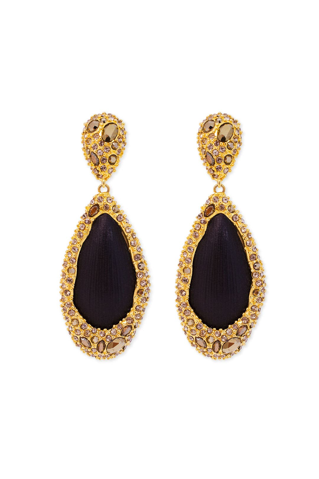Drop of Obsidian Earrings by Alexis Bittar
