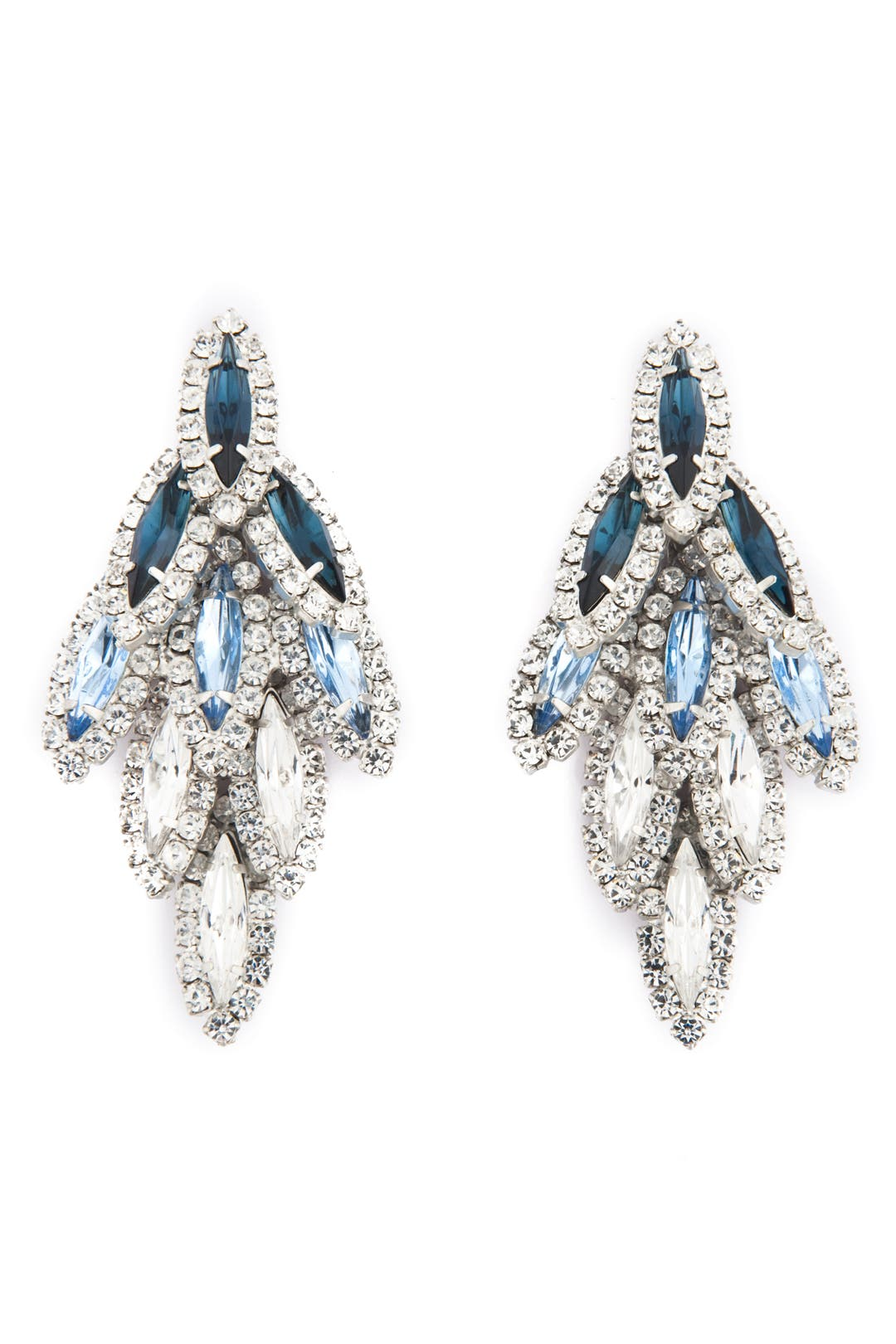 Aqua Ombre Bacall Earrings by Elizabeth Cole