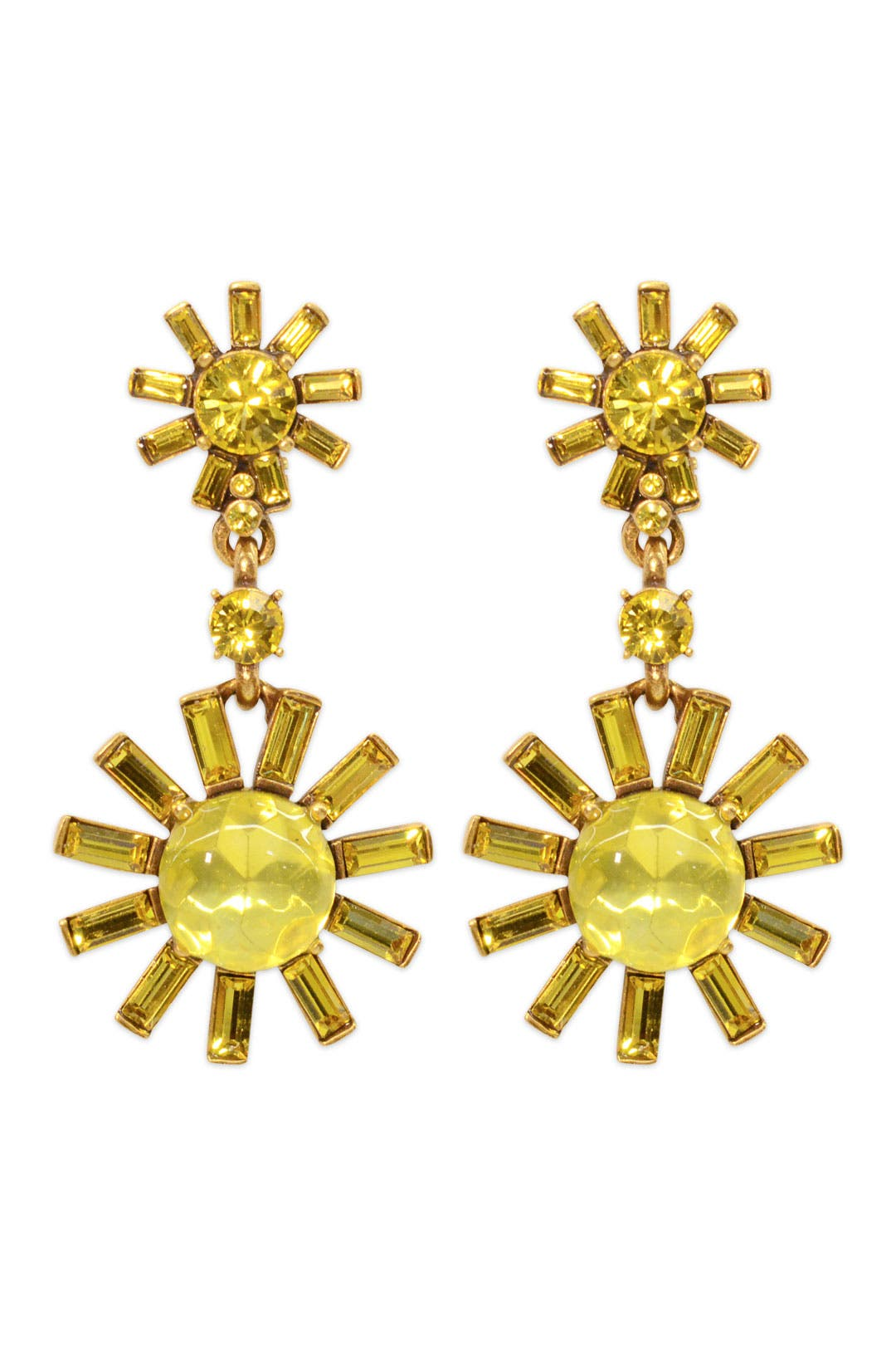 Daisy Drop Earrings by Oscar de la Renta