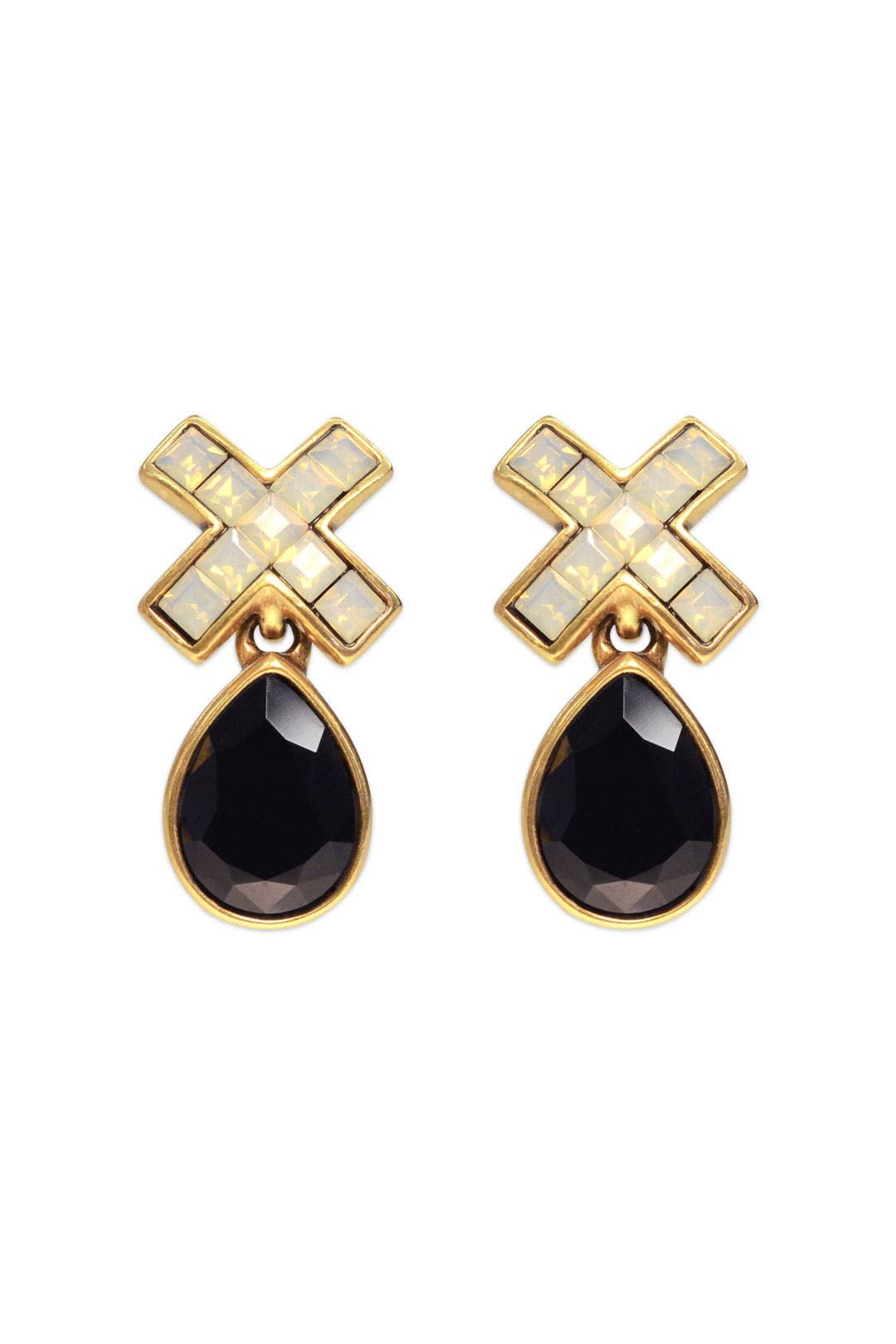 Noir Marks the Spot Earring by Oscar de la Renta