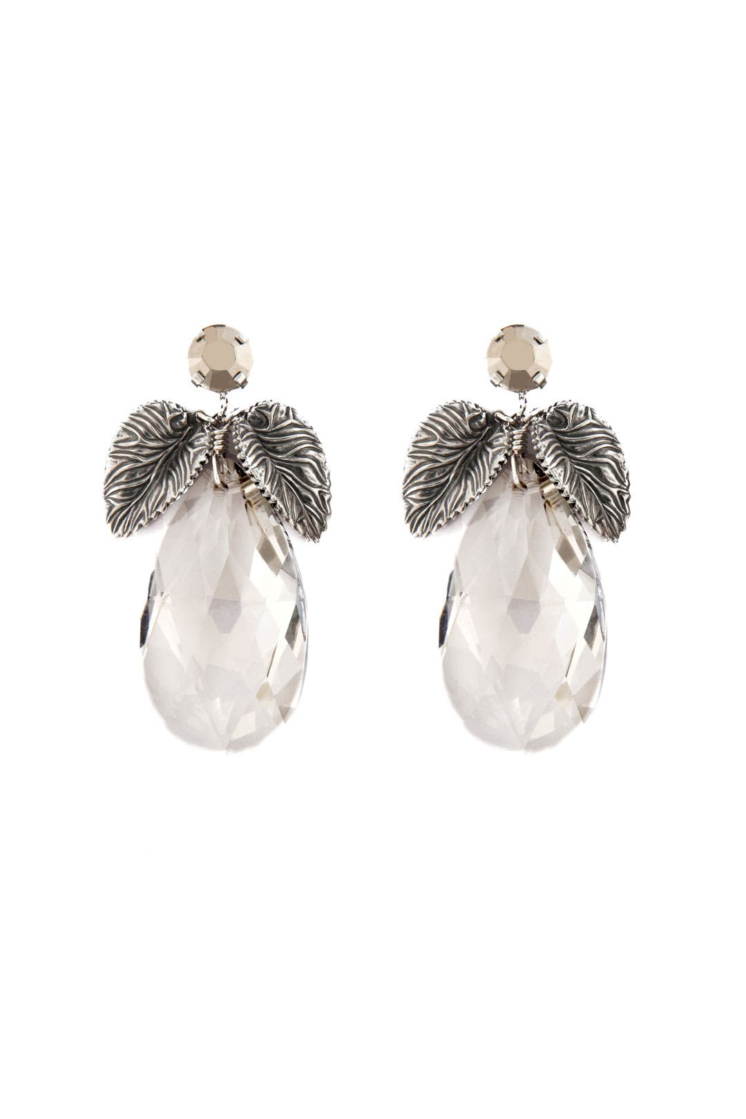 Elegant Leaf Drop Earrings by Anton Heunis