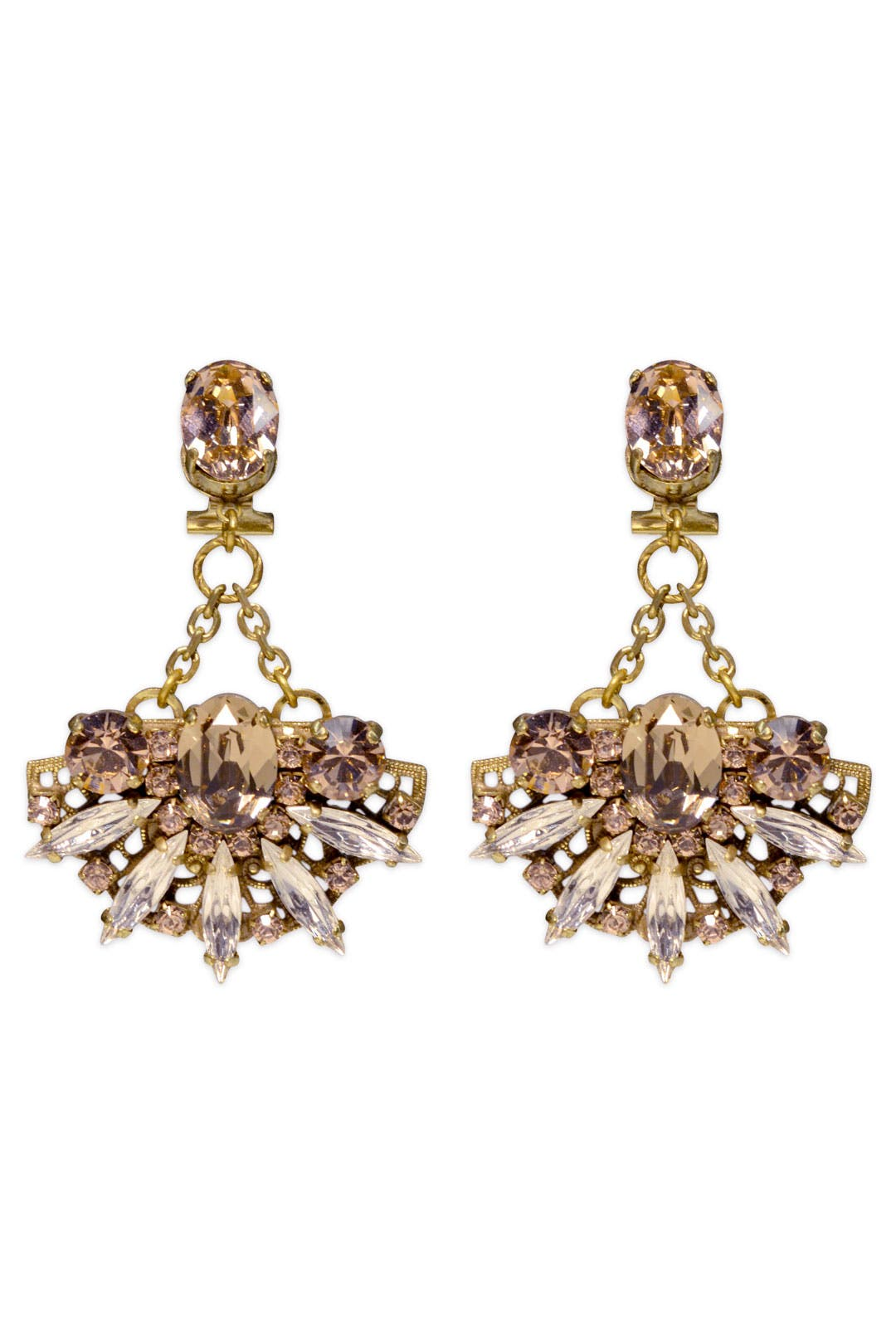 Lotus Pendant Earrings by Anton Heunis