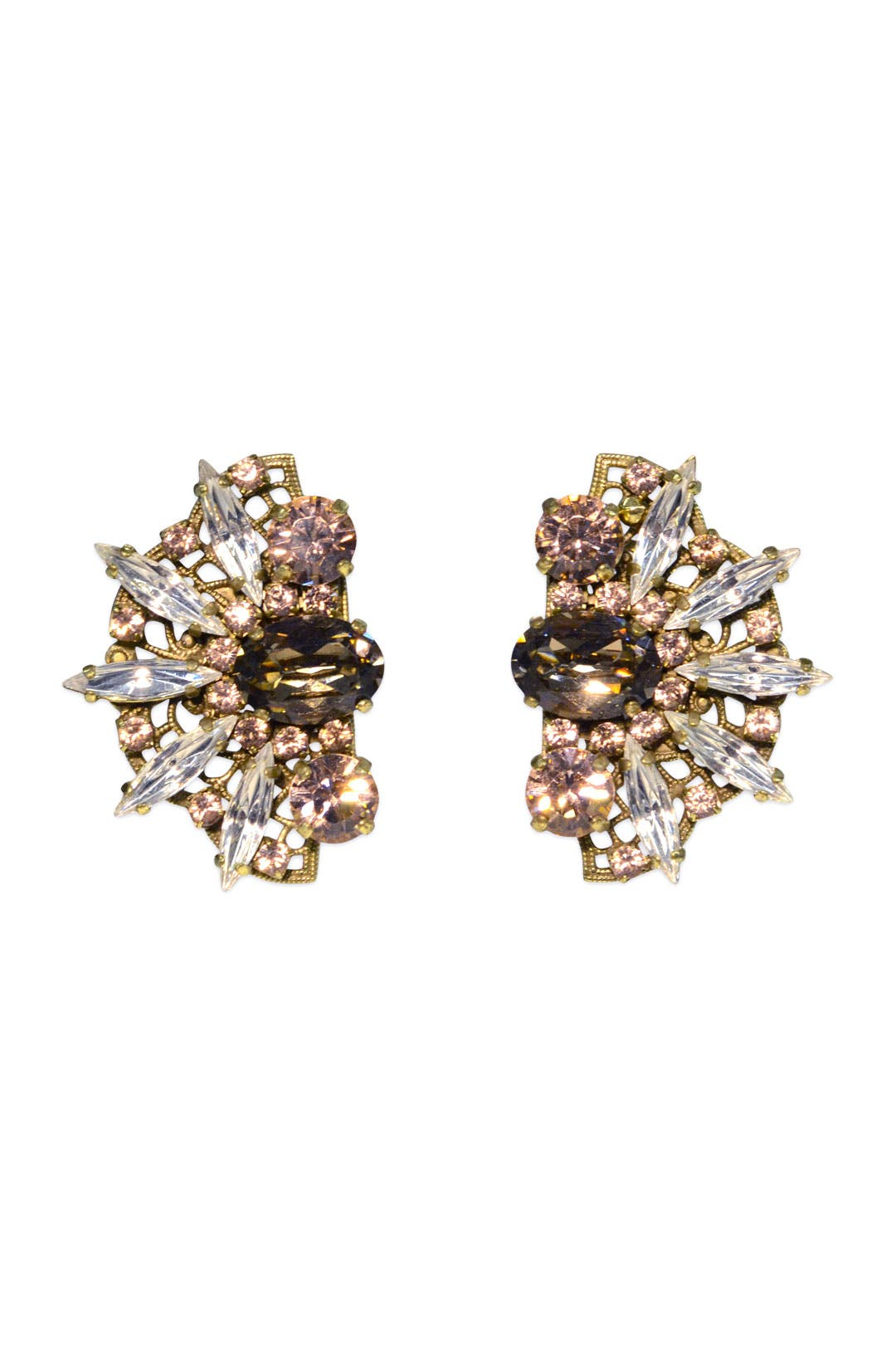 Pink Lotus Earrings by Anton Heunis