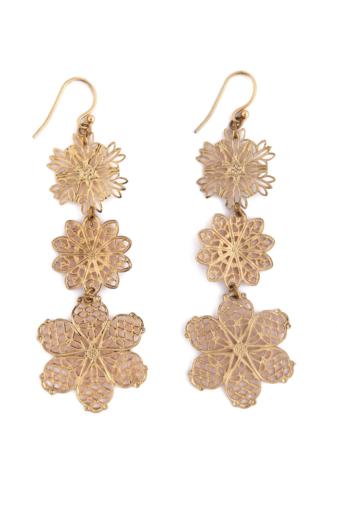 Delicate Filigree Flower Earrings by AV Max