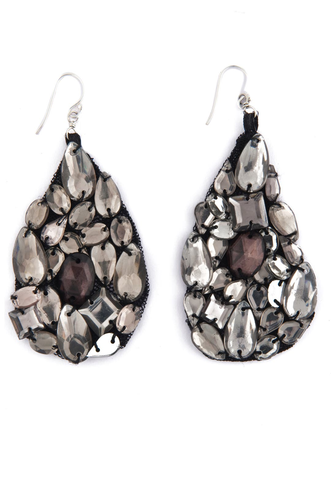 Hematite Glitzy Glam Earrings by AV Max