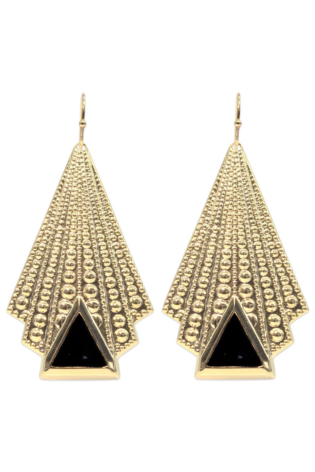 Pleated Deco Fan Earring by AV Max