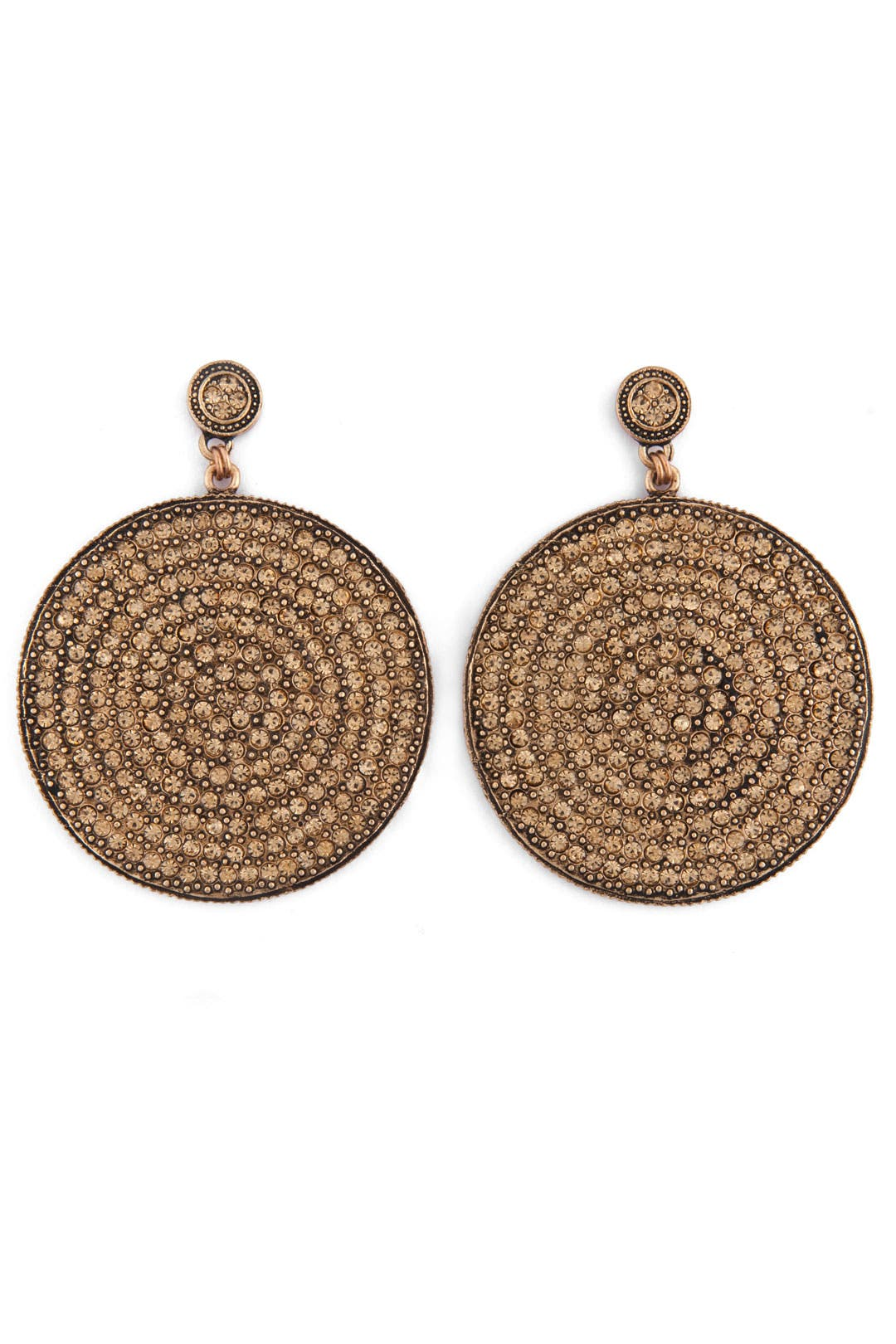 Gold Disc Earrings by Azaara