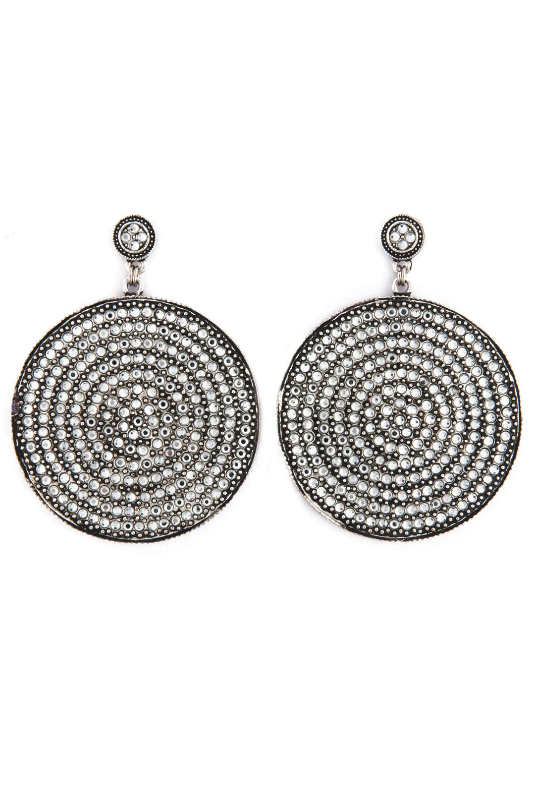 Silver Disc Earrings by Azaara